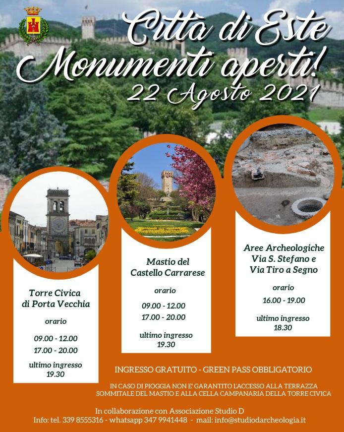 Monumenti aperti 22 agosto