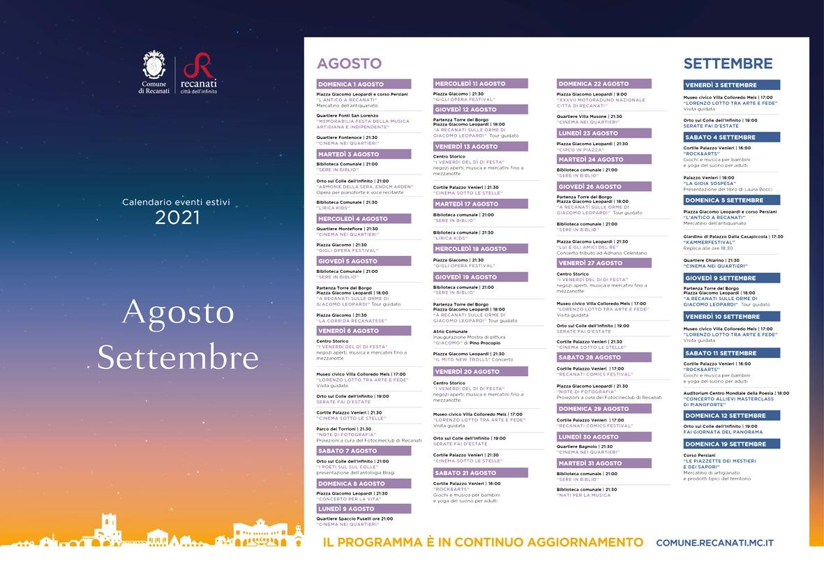 Eventi estivi agosto_settembre