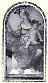 l'immagine della Vergine con Figlio posta sull'altare