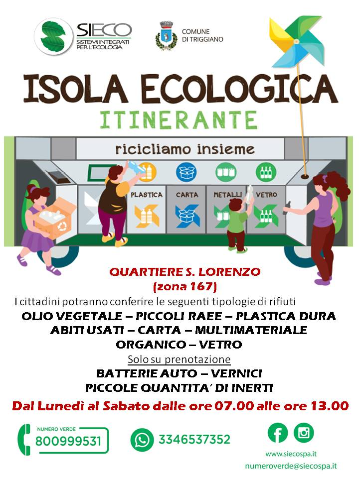 manifesto isola ecologica mobile